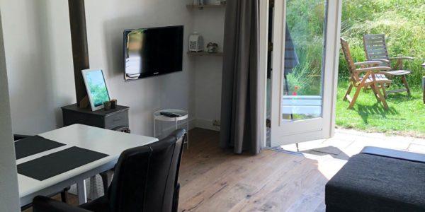 vakantiehuisje woonkamer